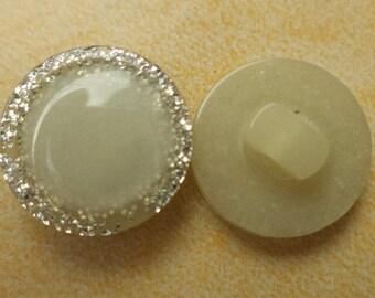 10 buttons light green grey 15mm (6321) button