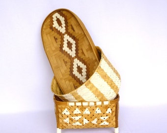 INSTANT BASKET COLLECTION/ Up cycled basket Trio