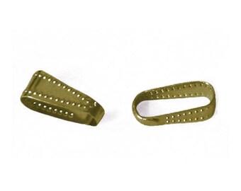 10x3.4mm - set of 20/50 bails open - bronze
