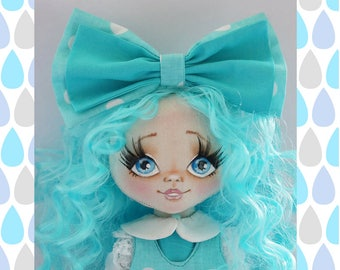 PDF Tutorial «Painting a face» Cloth doll pattern PDF sewing tutorial Soft doll pattern Textile doll Handmade doll Pattern doll Tutorial