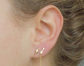 mytheresa de tash rose lightning en bolt com gold stud maria diamond earring single
