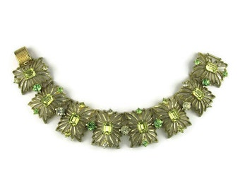 Vintage Coro Rhinestone Link Bracelet