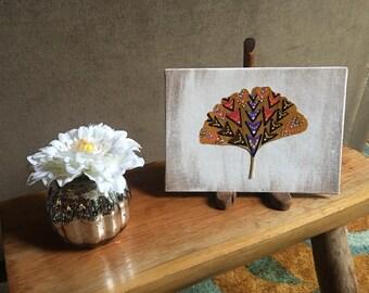 Painted Ginkgo Leaf, V's