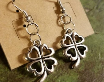 Custom Four Leaf Clover Luck Charm Earrings