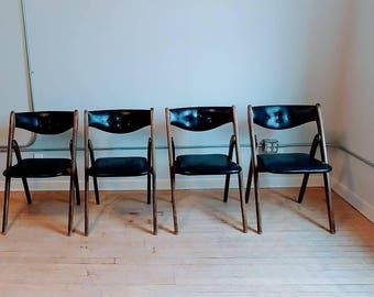 Wonderfold folding chairs mid century style 220