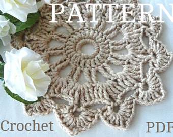 Crochet Pattern Crochet Placemat Coaster Pattern Home Decor Crochet Tablecloth Pattern Crochet Doily Round Crochet Pattern Doilies PDF file