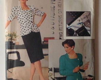 Vogue 7524 UNCUT Miss/Miss Petite Suit Size 18-20-22 Vintage 1989
