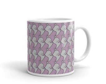 Escher cat mug