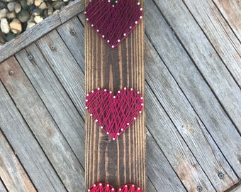 Red Ombre Hearts Wall Art