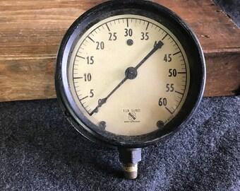 Large vintage Ashcroft 1850 pressure gauge