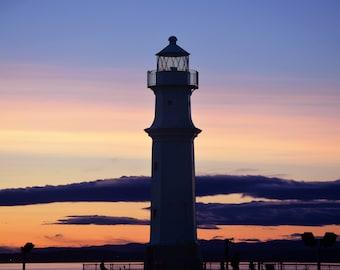 Newhaven Lighthouse, Edinburgh (80x60cm)