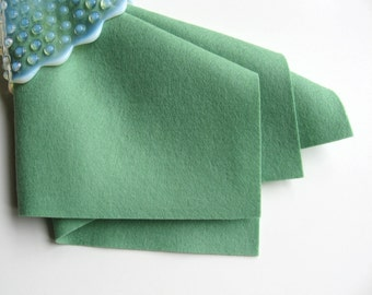 Bottle Green, 100% Wool, Choose Size, Felt Sheet, Large Square, Jade, Washable Felt, Wool Fabric, Waldorf Craft, DIY Felt Supply