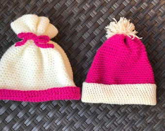 Baby Girl Hat / Crochet Baby Hat / Hot Pink Hat / Baby Shower Girl / Pink Hat / Gifts For Baby Girl / Baby Beanie Hat / Baby Shower Gift