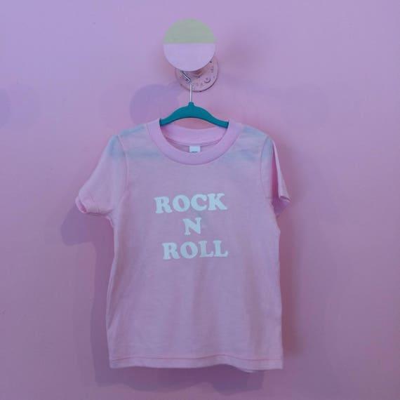 Rock n Roll pink kids tee
