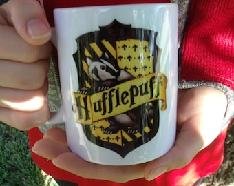 harry potter inspired hufflepuff mug
