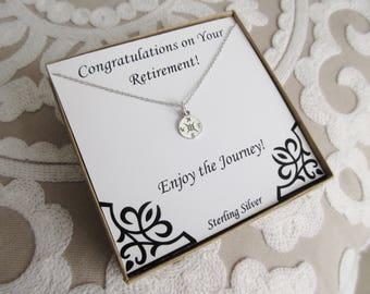 Retirement Gifts for Women, Retirement Present, Graduation Necklace, Compass Rose Necklace, Retirement Gift Ideas, retirement gift for woman