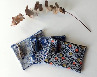 Mini pouch in fabric Liberty (3 prints available)