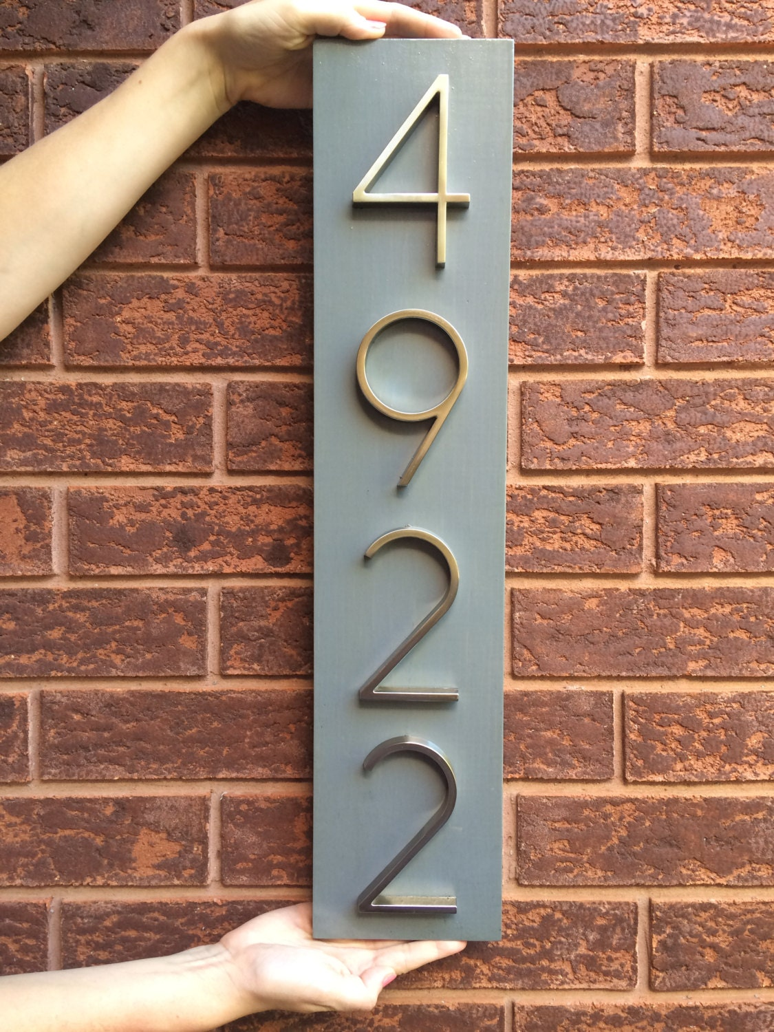 House number plaque house number address sign metal house house number plaque house number address sign metal house numbers wedding gift dailygadgetfo Gallery