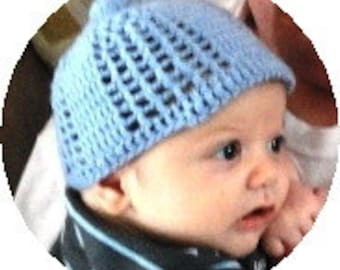 Baby Boy or Baby Girl Hat Crochet Pattern Instant PDF Digital Download