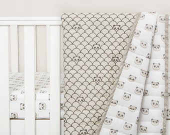 Peekaboo Panda-Organic Cotton Baby Blanket, Gender Neutral Baby Blanket, Baby Shower Gift Ideas, Organic Baby Blanket, Panda Blanket