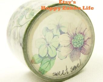 Best Smelling Flowers - Japanese Washi Masking Tape - 30mm wide - 11 Yards