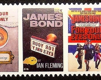 James Bond Ian Fleming For Your Eyes Only Movies -Handmade Framed Postage Stamp Art 17011AM