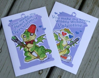 Doctor Who Dragon Doodles Valentine's Day Cards
