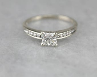 Sleek Princess Cut Diamond, Engagement Ring, Modern Diamond Ring HW2YLM-R