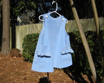 Infant dress, toddler dress. girls dress, girls jumper. Corduroy a-lined dress.  Size 2 dress.  Ready to ship.