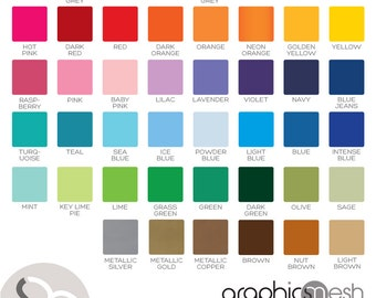 COLOR SAMPLES Vinyl For Wall Decals From Graphics Mesh