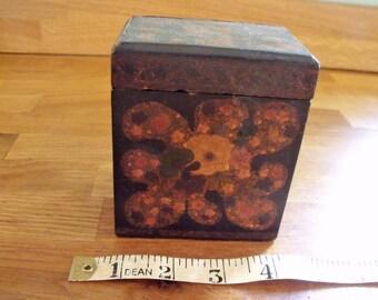 Vintage Embossed Card Box