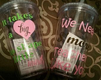 Teacher appreciation cups
