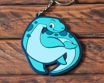 Cryptid Rubber Keychains - Loch Ness Monster