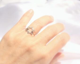 Star Of David Ring, Handmade from Israel Jewish Star Ring, Magen David Ring, Star Of David Jewelry, Bat Mitzvah Gift, Jewish Jewelry