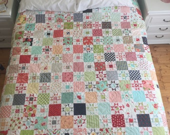 Scrappy Stars, Thimble Blossoms Quilt design in Bonnie and Camille Fabrics