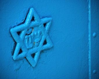 Israel Photography - Blue Star of David - Safed - Israel - Fine Art Photograph - Wall Art