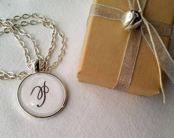 Pendant Necklace with Initial P