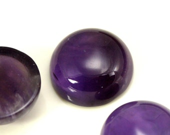 1 pc 12 mm amethyst high dome 5 mm genuine round cabochon CB120
