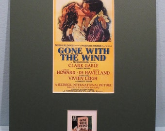 """Clark Gable & Vivien Leigh in """"Gone With the Wind""""  honored by its own Stamp"""