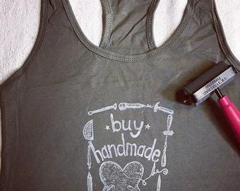 Buy Handmade Support Art Womens tank top
