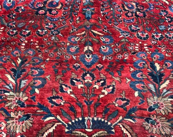 Persian Antique Sarouk/Saruk rug 1920s 9x12