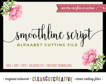 Full Alphabet SVG Fonts Cutfile - Modern Handwritten Script cricut font DXF EPS - Silhouette Cameo & Cricut - clean cutting digital files