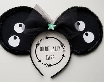 Soot Sprites Mouse Ears, Soot Sprites Mickey Ears, Soot Sprites Minnie Ears, Studio Ghibli Ears, Miyazaki Mickey Ears, Spirited Away, Totoro