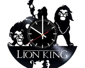 The Lion King Vinyl Record Wall Clock Housewarming Gift Home Disney Design Art Decor