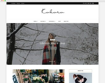 Kokoro - A Beautiful Blog & Shop WordPress theme. A Responsive WordPress Blog Theme - Feminine Wordpress Theme - Blog Template - Fashion