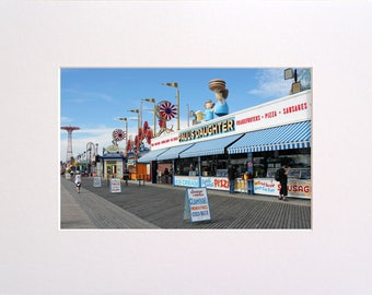 Coney Island, Photo in 30x23 cm Mat Board, Wall Art, Home Decor, Limited Edition Photography