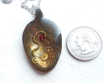 Steampunk spoon pendant