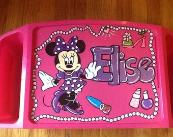 Minnie Mouse tray, minnie mouse tv tray, minnie mouse activity tray, minnie mouse art tray, disney activity tray, disney lap tray,
