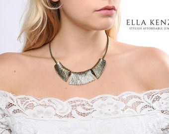 Collar Necklace, Statement Necklace, Bib Necklace