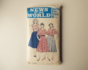 News Of The World 396 Vintage Top, Skirt, Dress Sewing Pattern